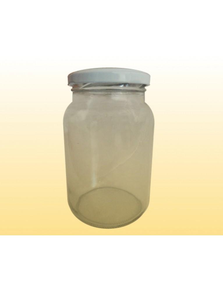 Pote de vidro transparente 600ml redondo caixa com 15 unidades