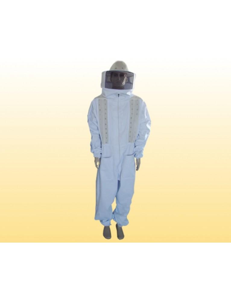 Macacão completo com refrigeração e chapéu acoplado - BRIM BRANCO