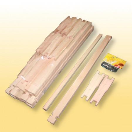 Kit com 10 unidades de quadros para melgueira desmontados