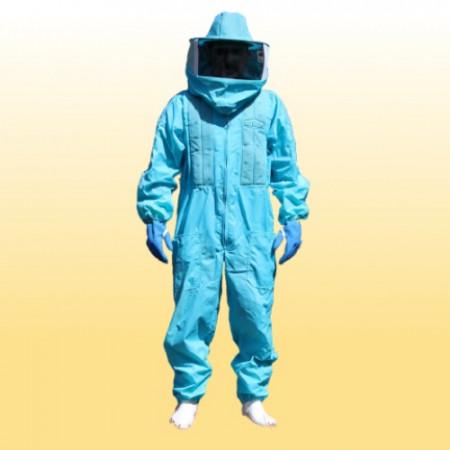 Macacão para Apicultor completo de nylon com refrigeração - Azul